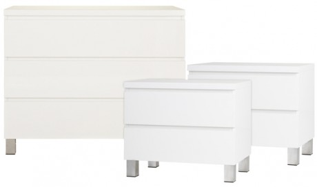 Vogue 3 Piece Bedside & Dresser