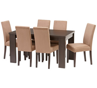 Avalon 7 Piece Dining Set with Urban Chairs