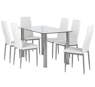 Zoe 7 Piece Dining Set with Zara Chairs