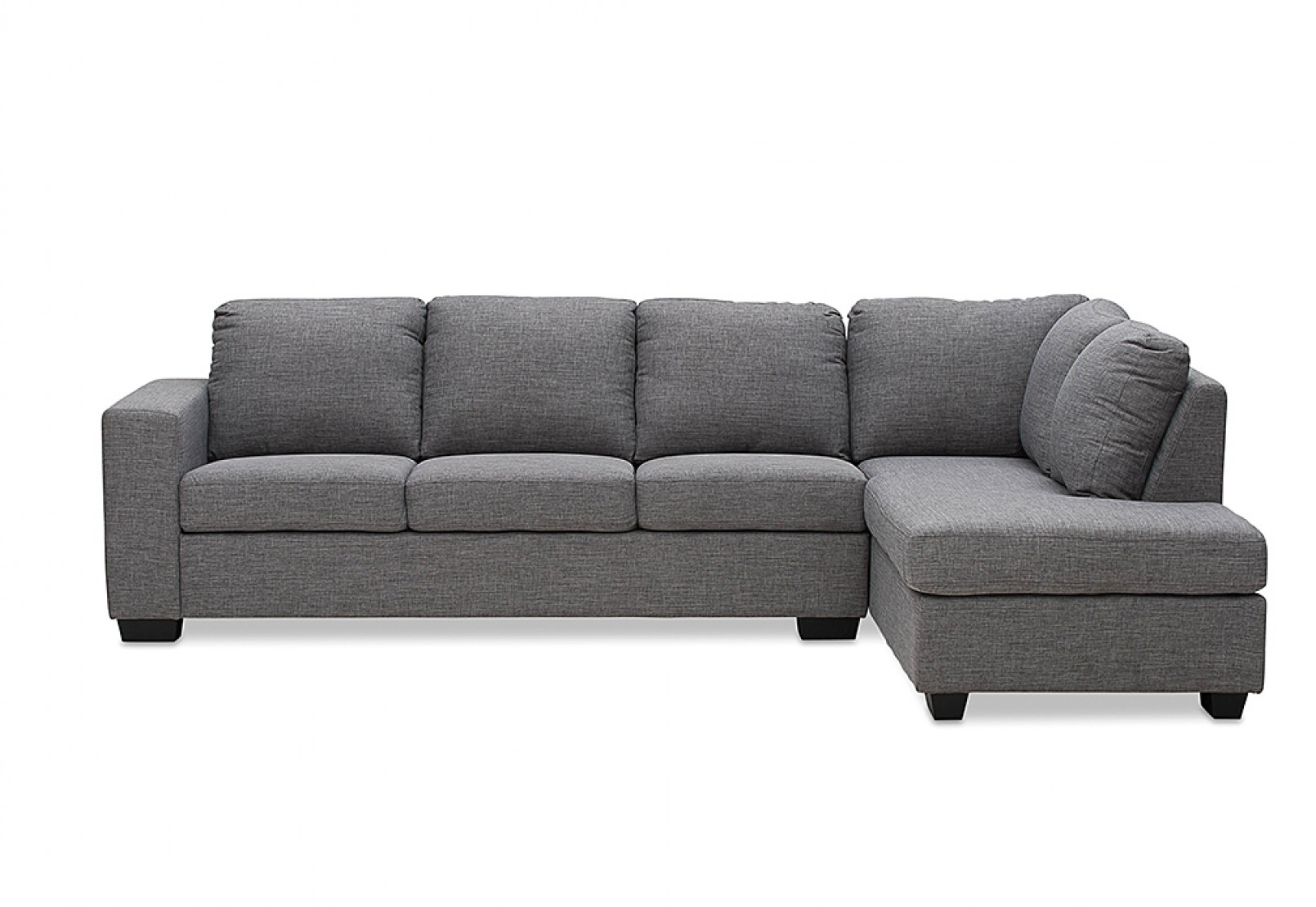 fabric in with chaise l home corner clouds sofa shaped grey lounge